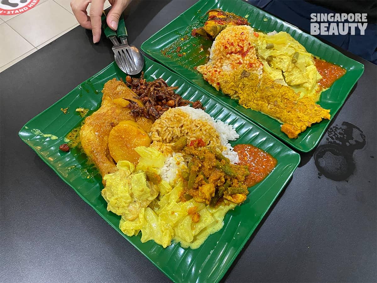 nasi padang traditional malay muslim food chinatown