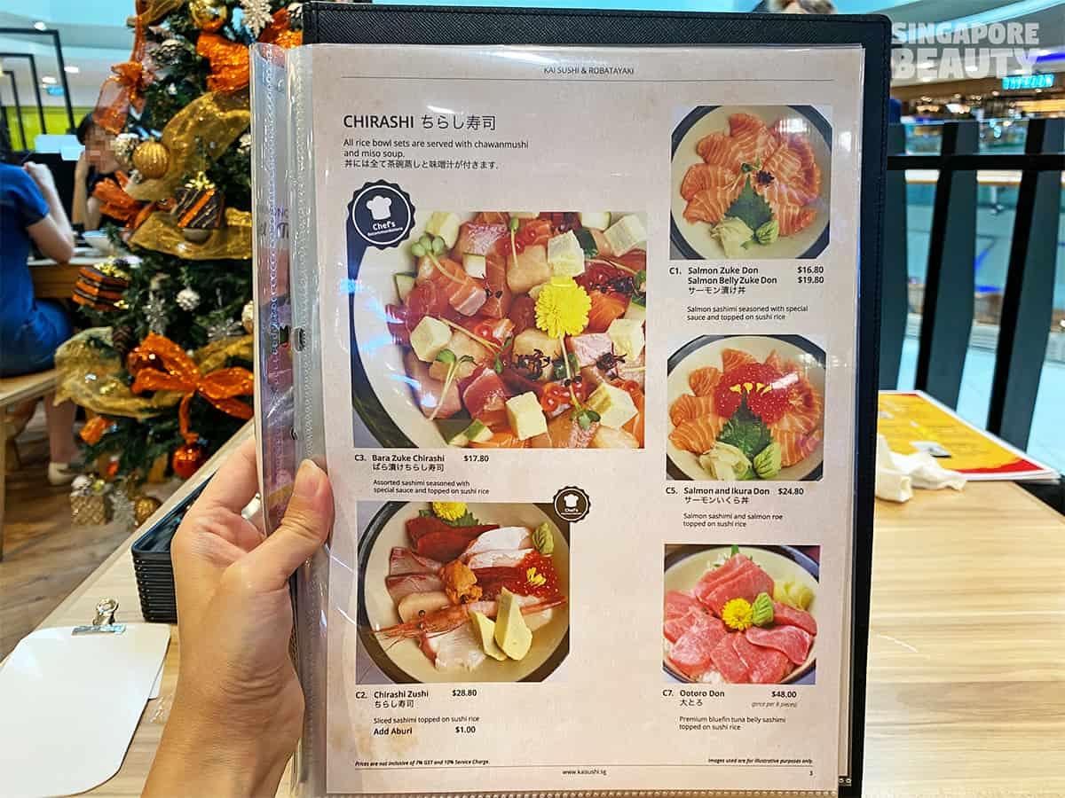popular bara zuke chirashi Kai Sushi & robatayaki