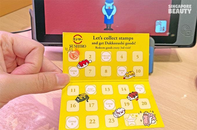 reward card for Dakkozushi goods