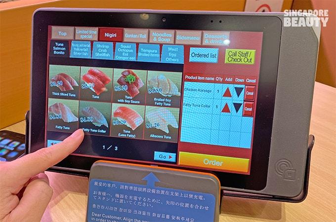 sushiro singapore menu