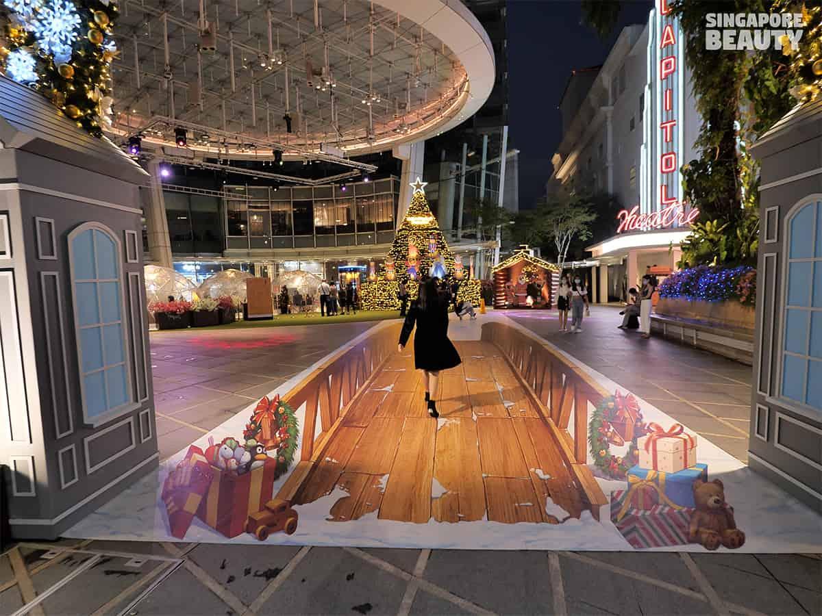 Dome dining capitol singapore 3D trick eye bridge