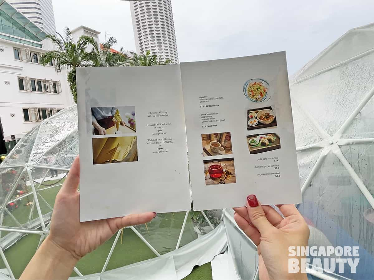 Dome dining capitol singapore chijmes dome dining menu