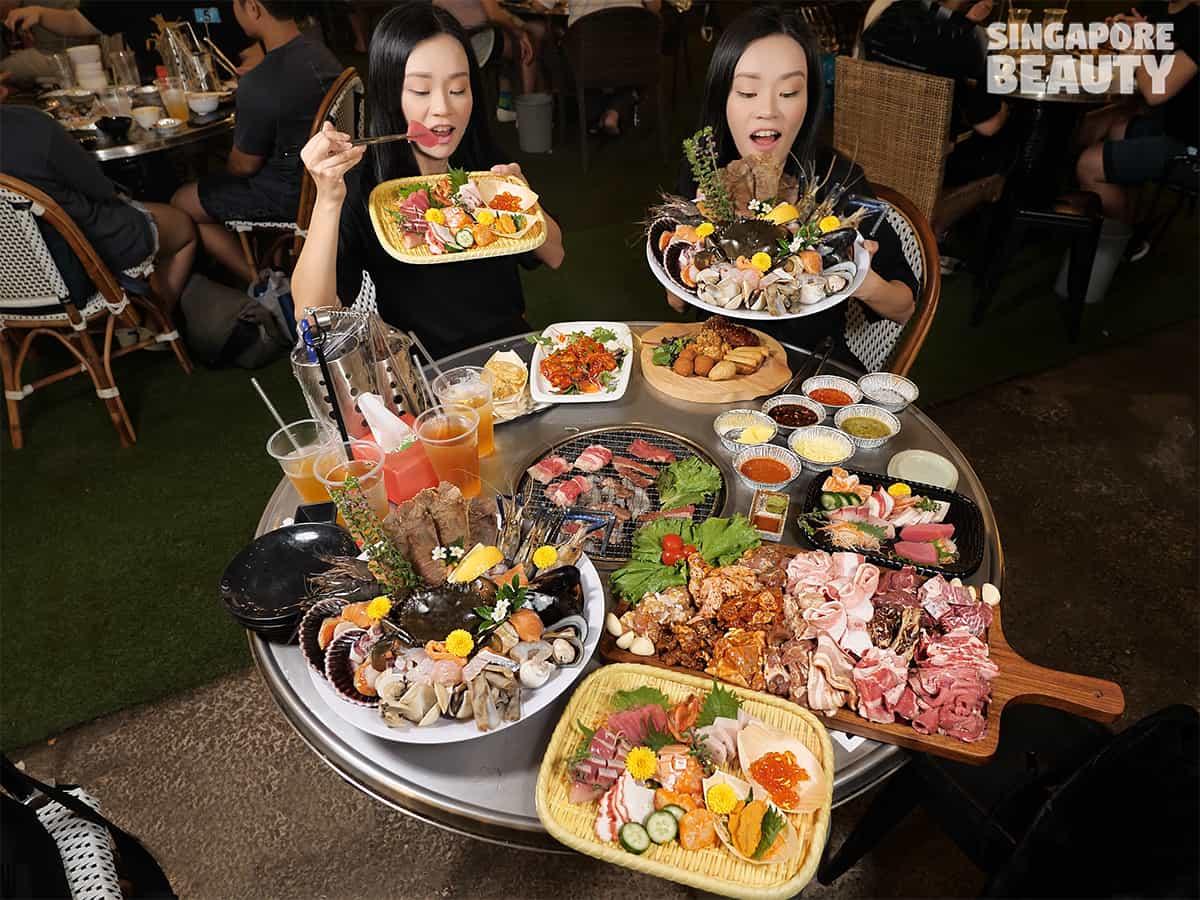 The three peacocks sashimi buffet