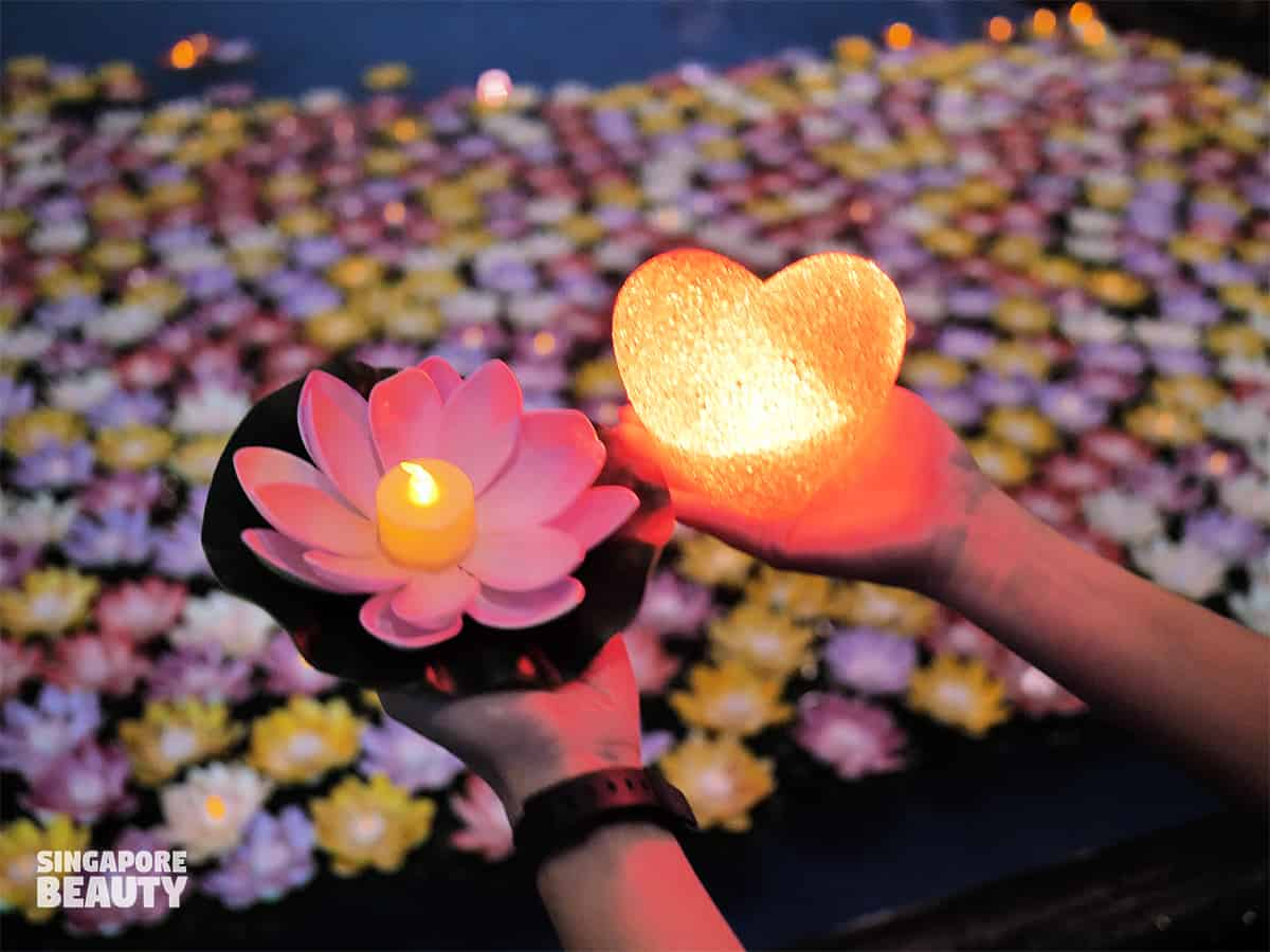 festival of lights 2020 release water lantern charity