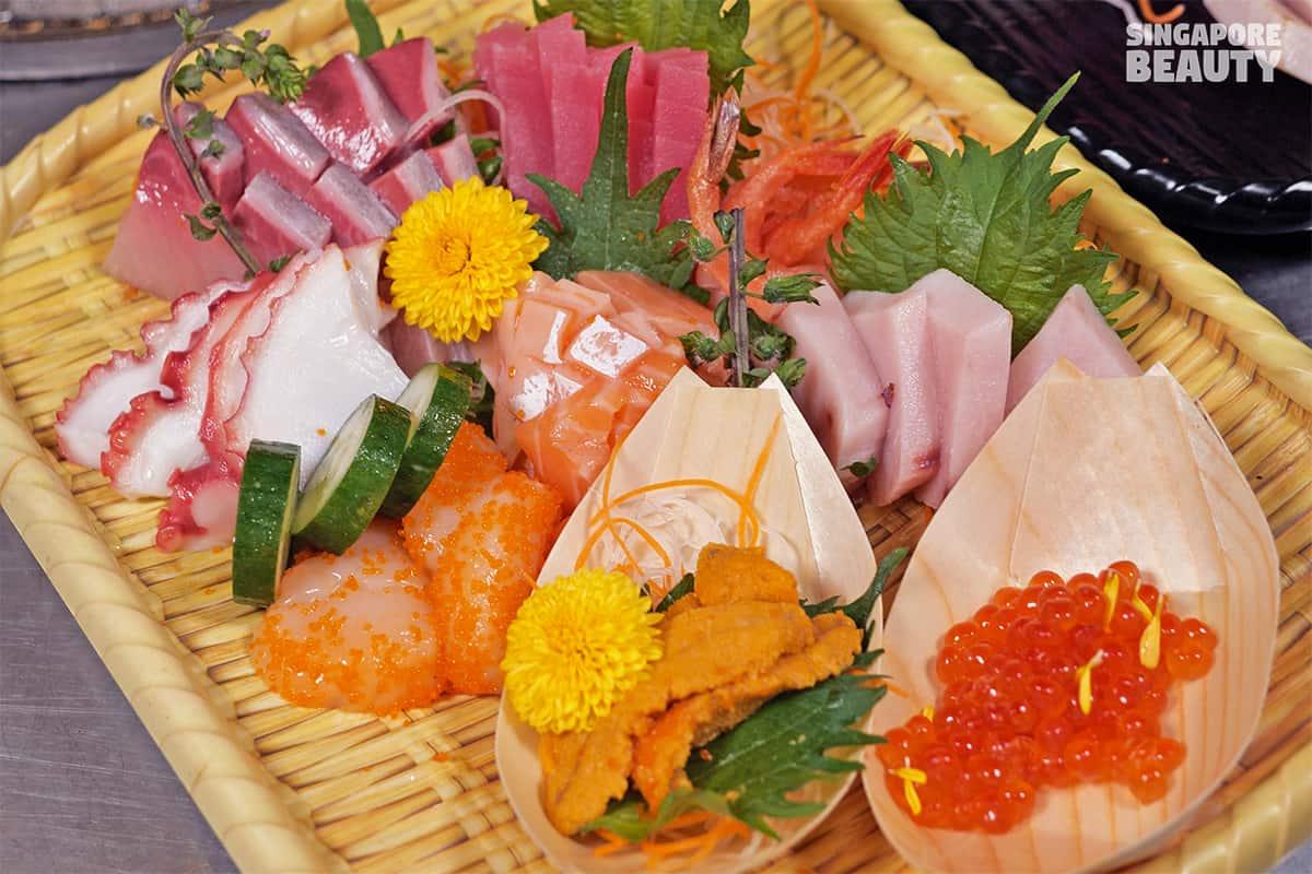 welcome sashimi platter uni