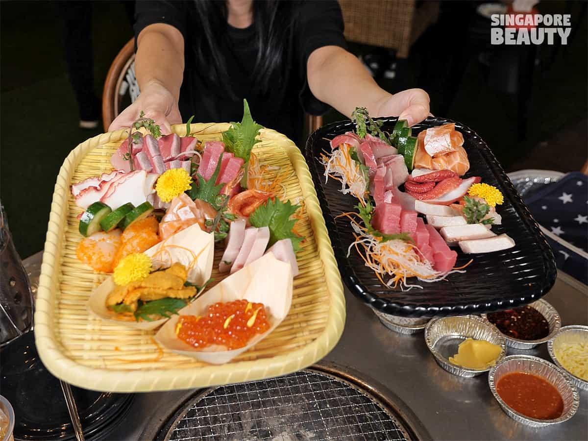 welcome sashimi platter