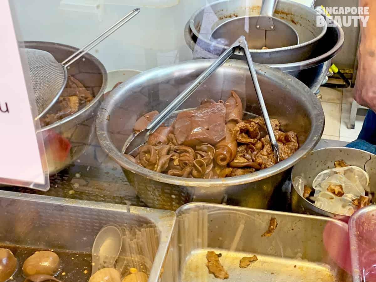 well marinated mixed pork innards