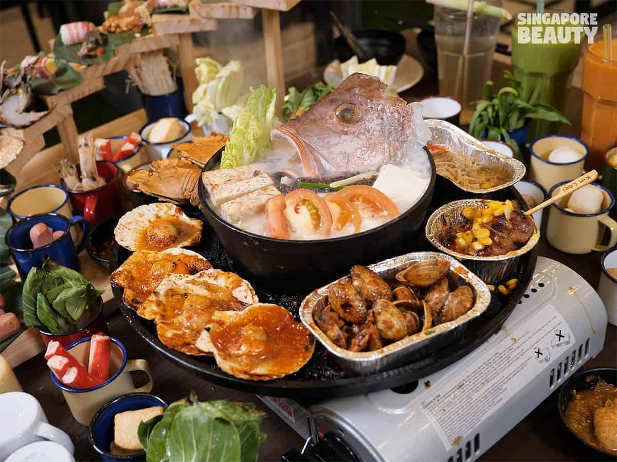 Teochew fish head steamboat