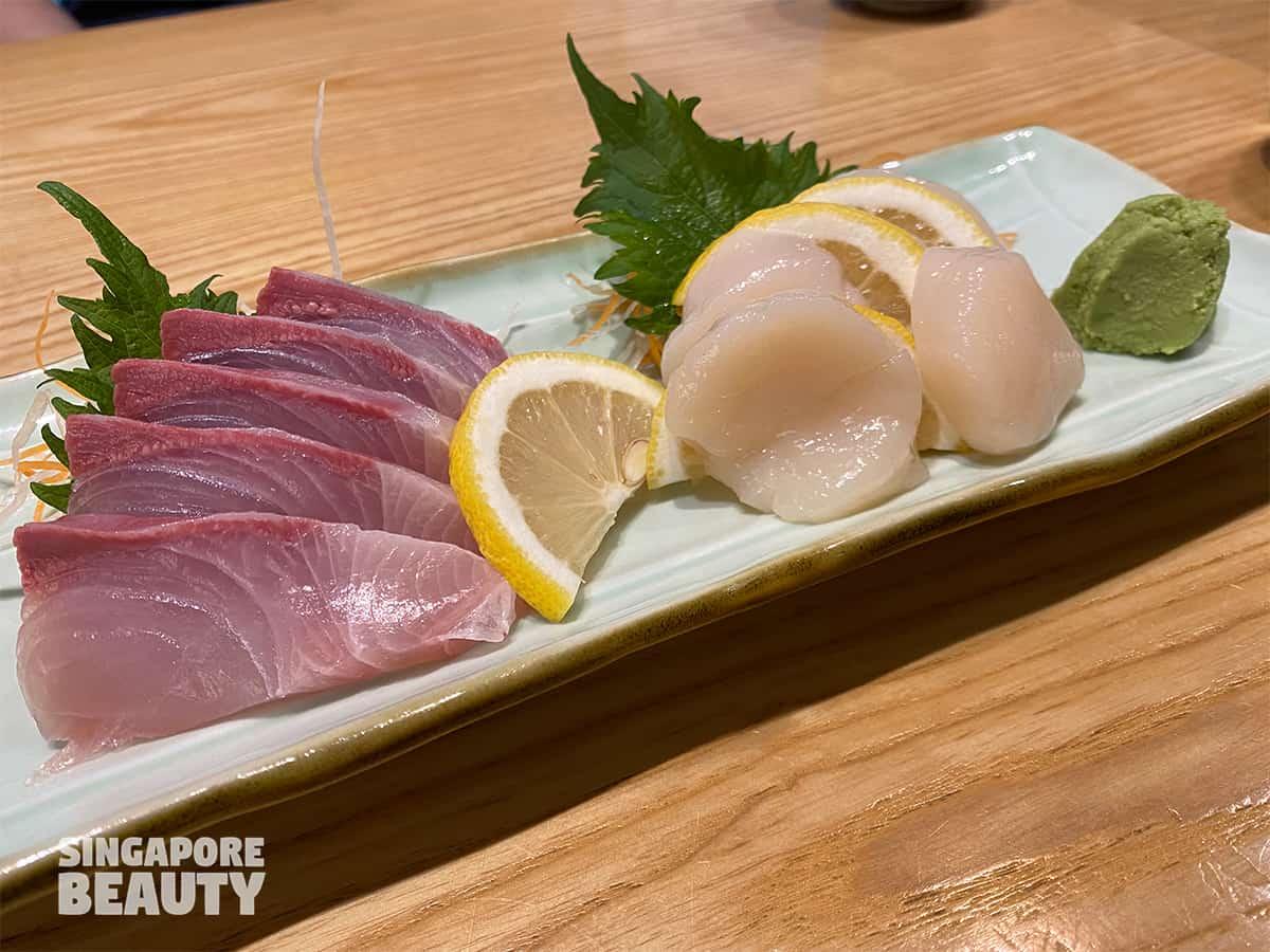 Tonkichi Sushi and Tonkatsu hamachi scallop