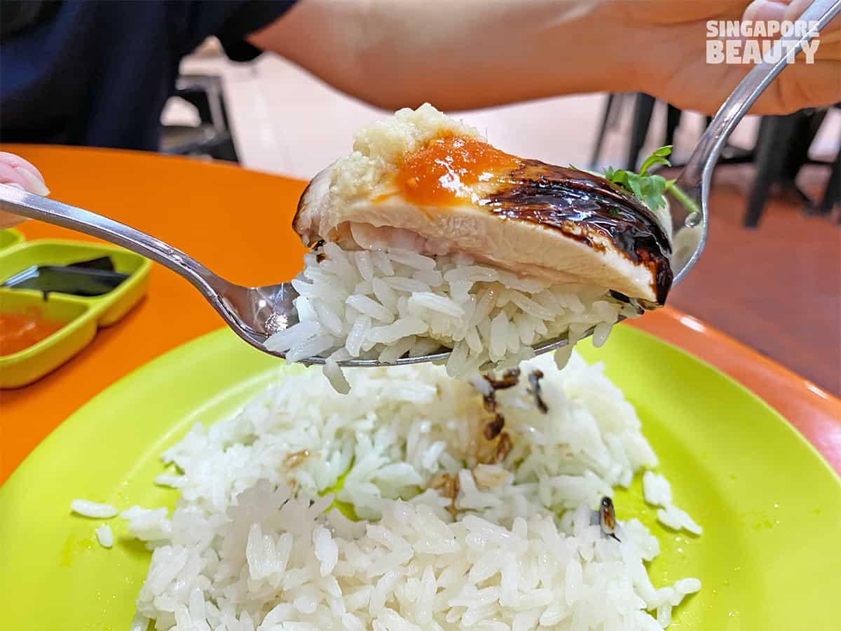hainanese delicacy chicken rice