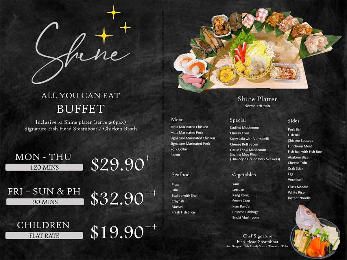 shine bbq menu