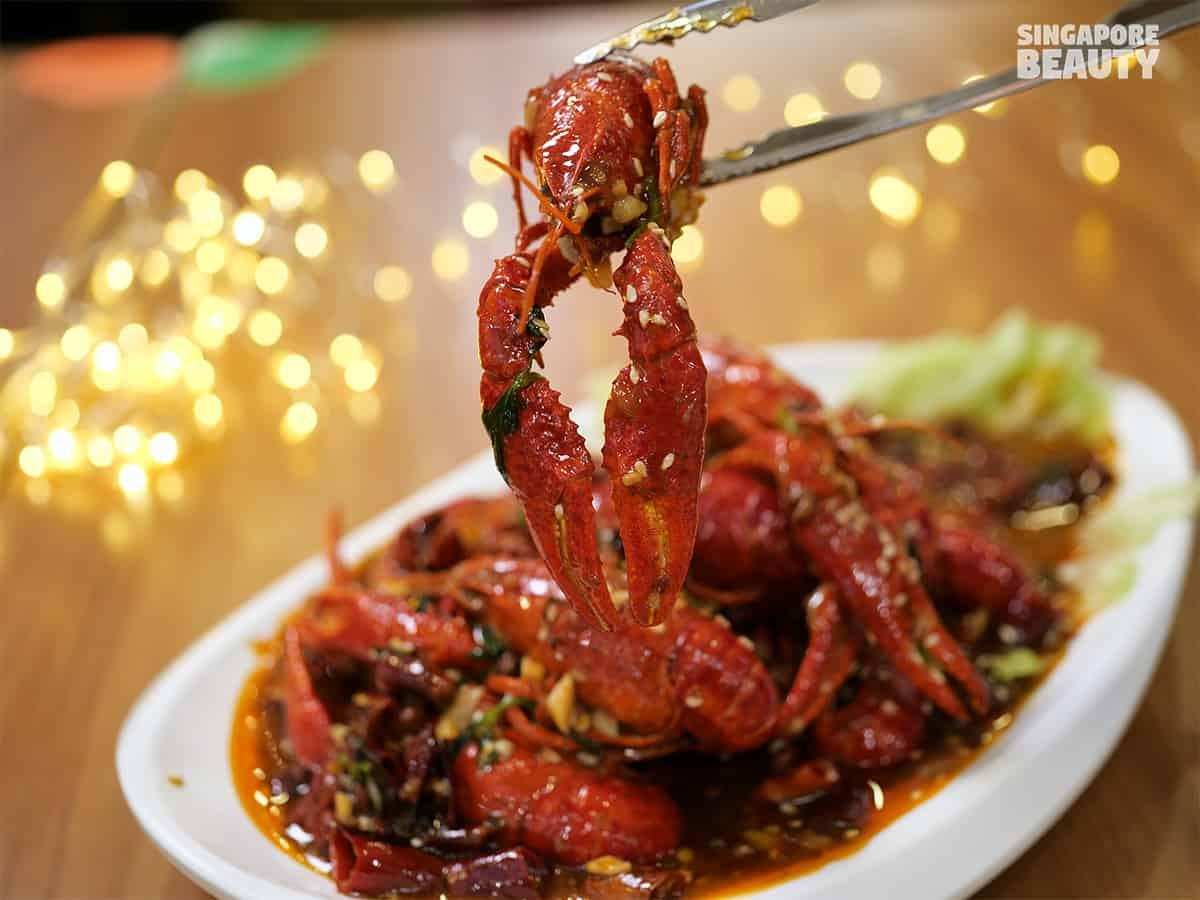 Wang Xing Mala Kitchen sichuan spicy crawfish dish orchard