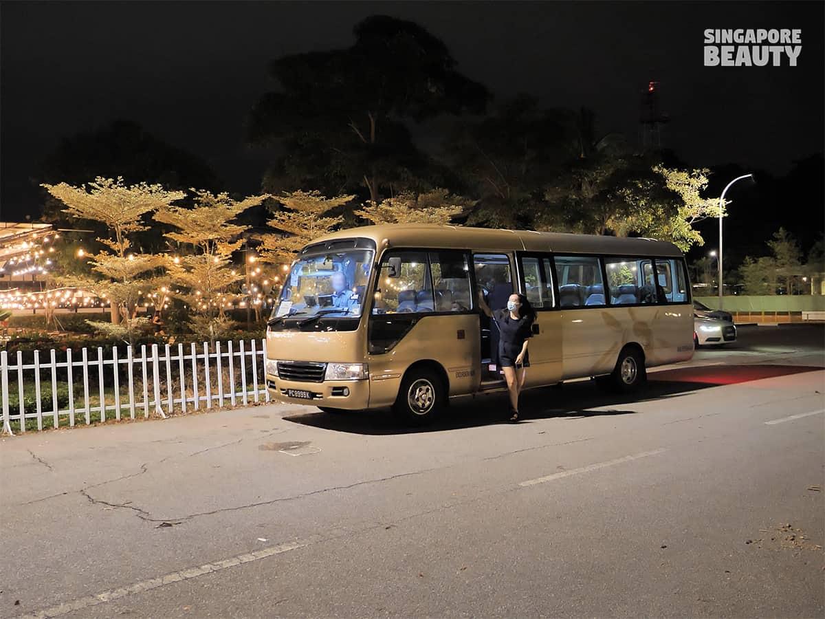 the three peacocks shuttle bus nearest mrt