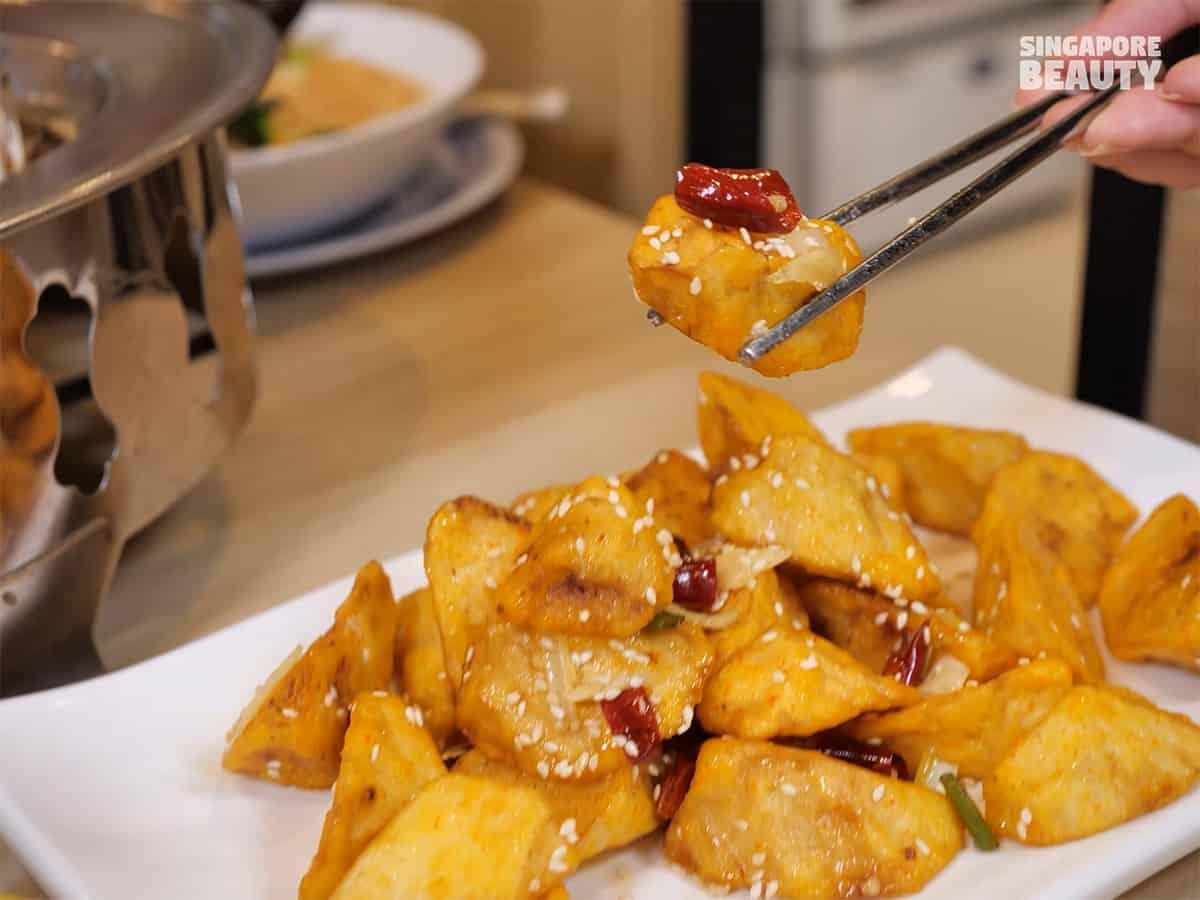 chopstick kitchen signature famous dish crispy eggplant