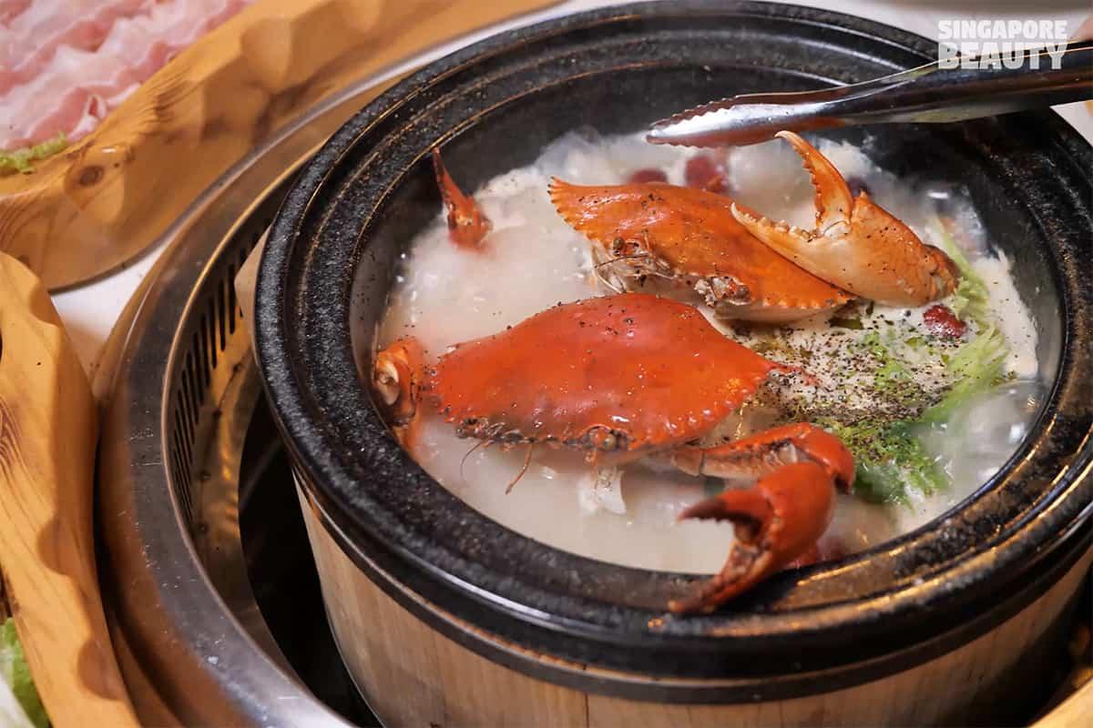 crab hot stone hotpot buffet