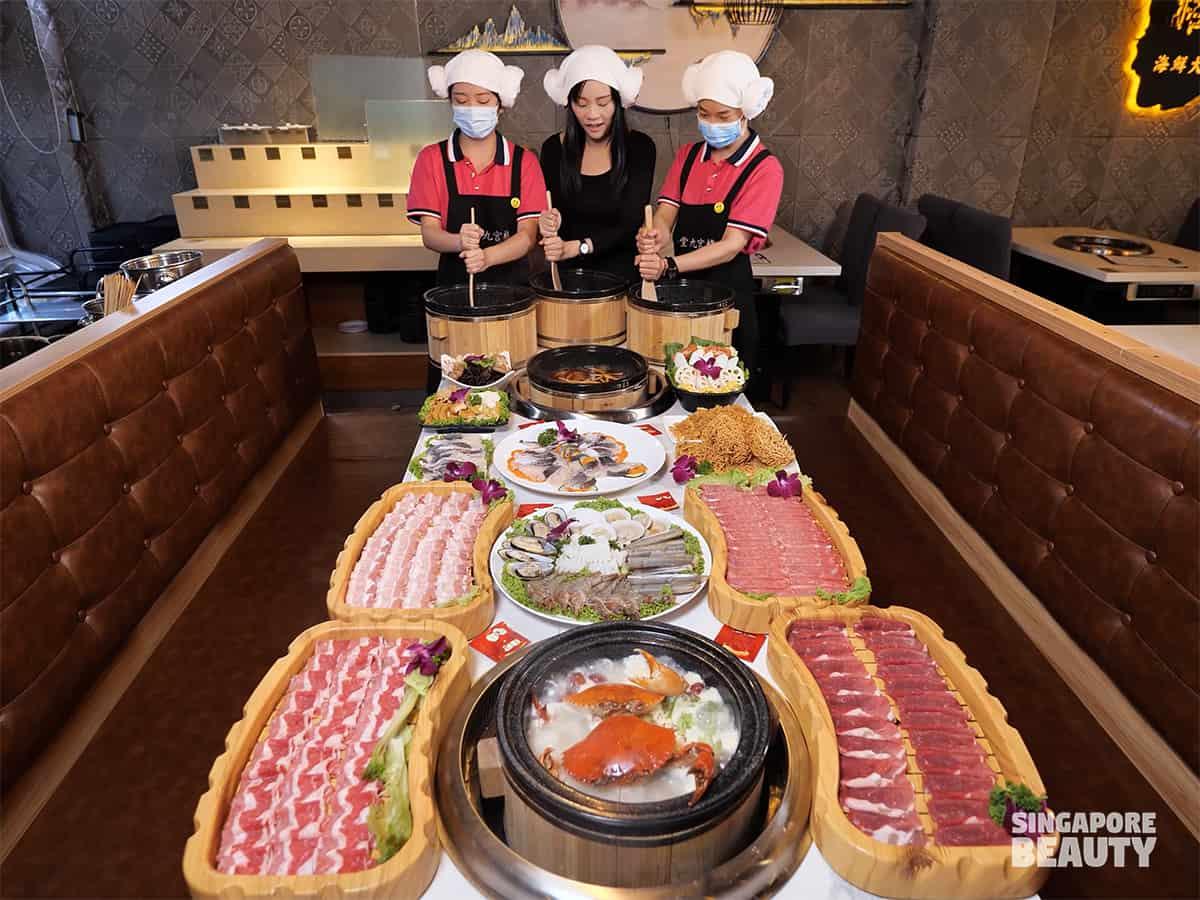 jiugongge sauna stone fish hotpot buffet