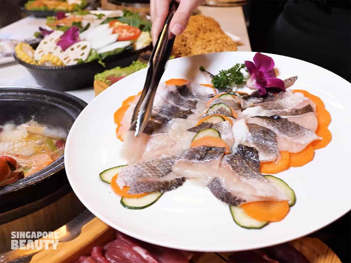 toman fish sliced fillet