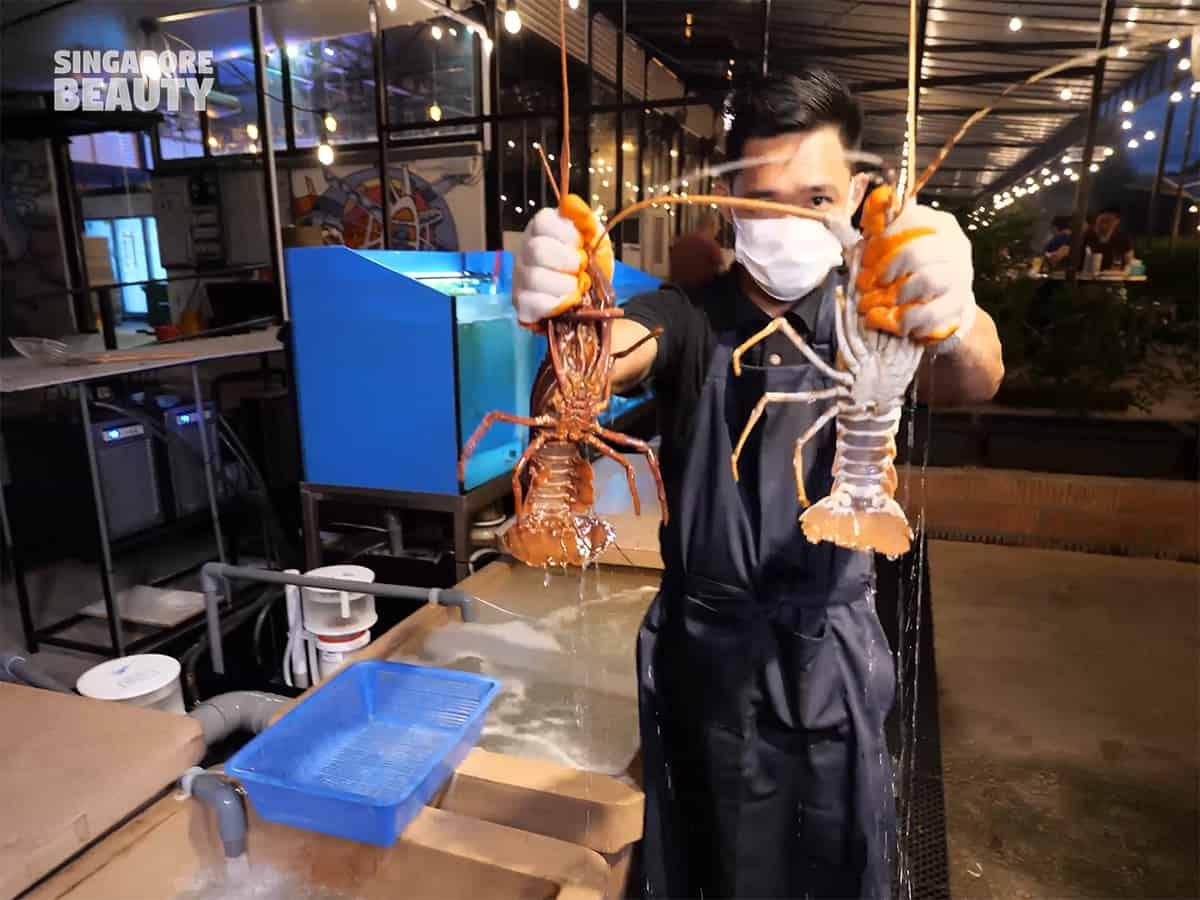 the three peacocks new lobster menu
