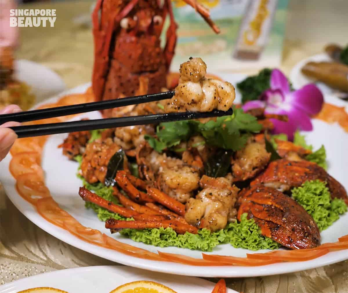 australian lobster in black pepper