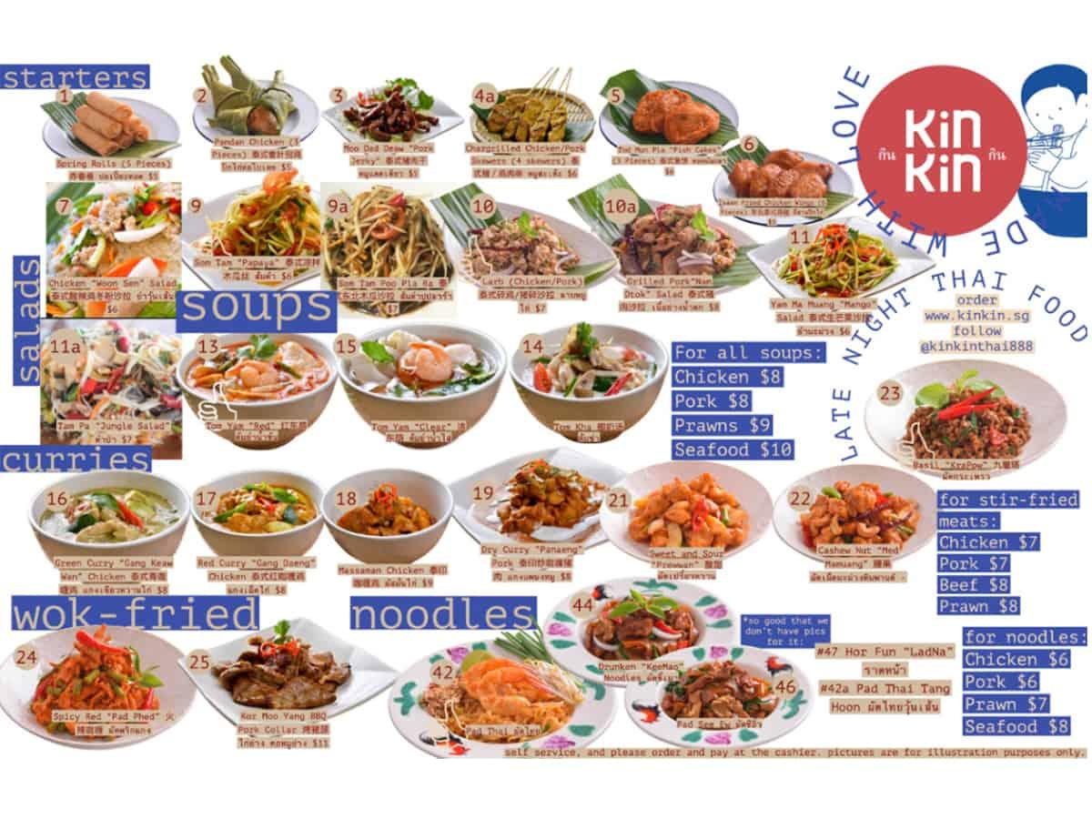 kin kin thai 888 menu