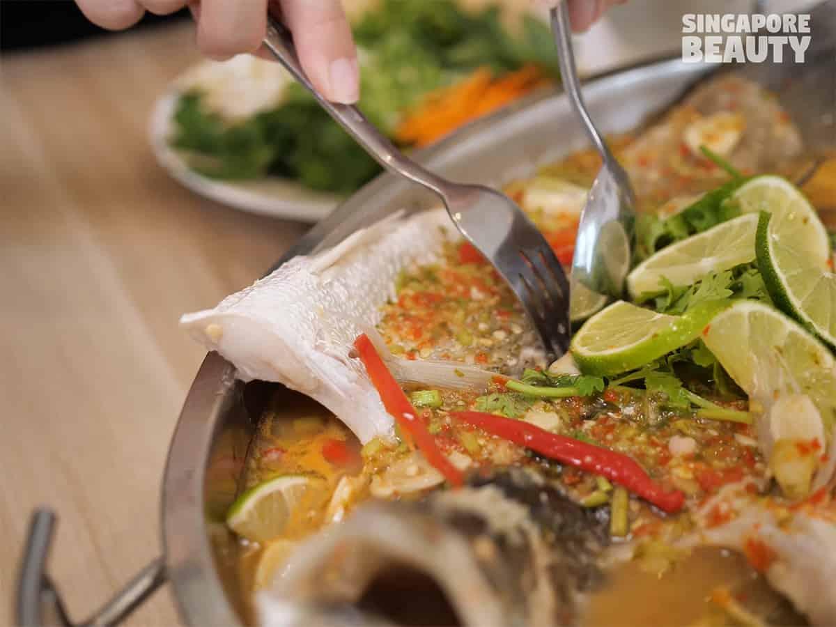 steamed thai lime fish