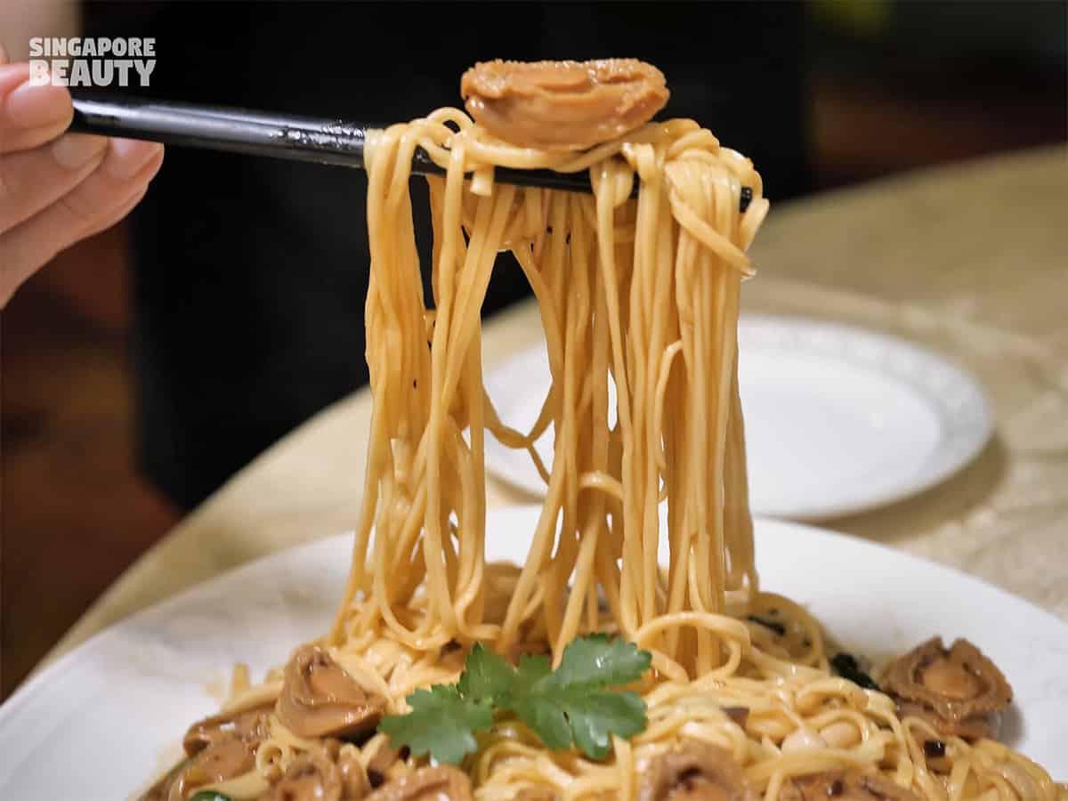 truffle abalone noodle