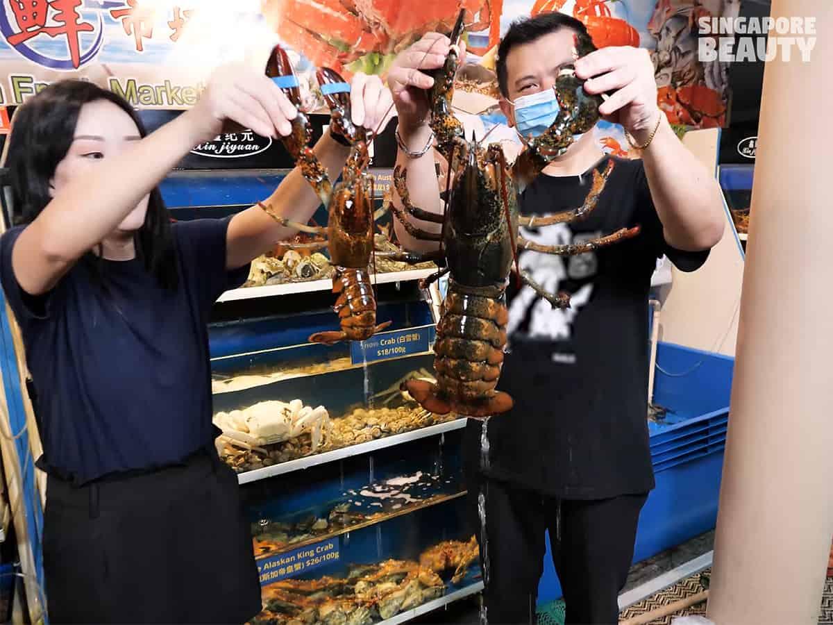 xi yan seafood restaurant live chilli crab boston lobster promotion