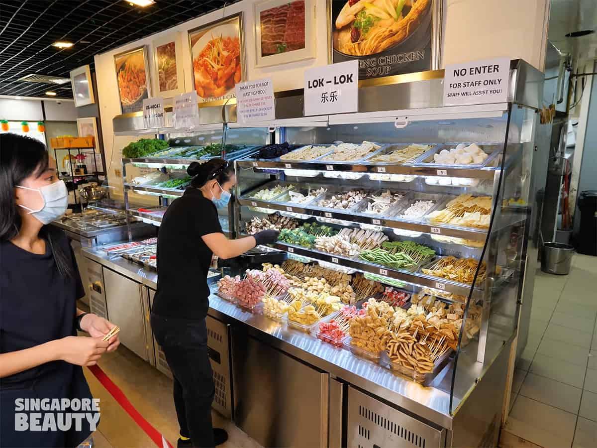 yi zi wei buffet menu