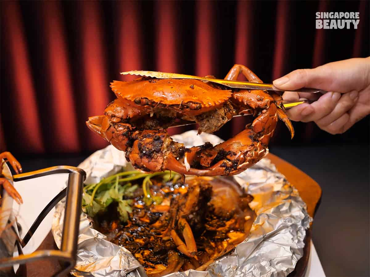 tin foil bbq crab