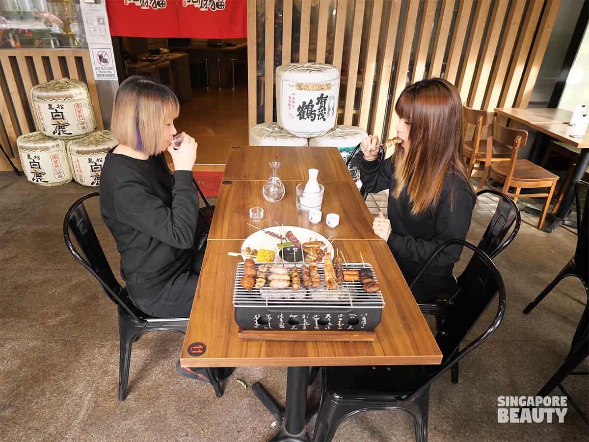Ying izakaya free sake