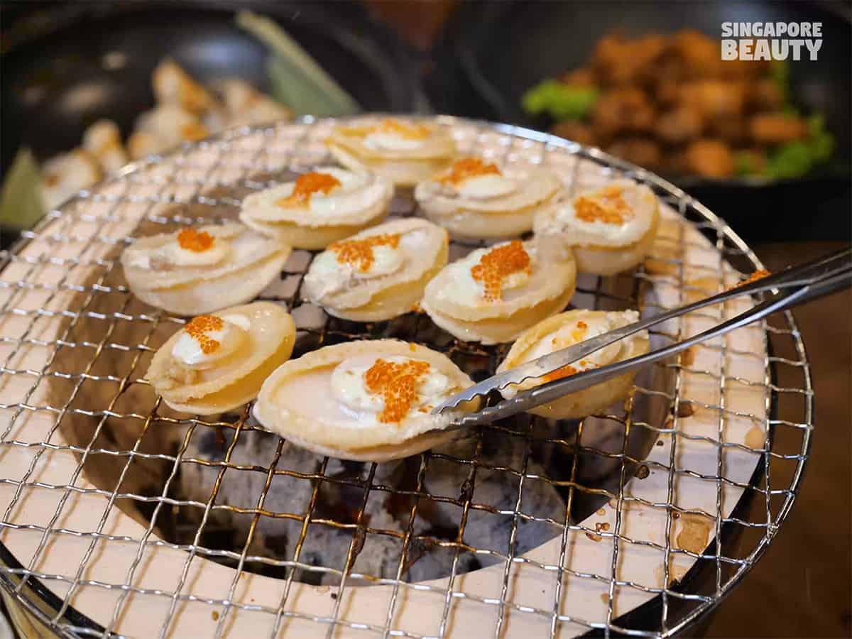 kujaku yaki abalone buffet