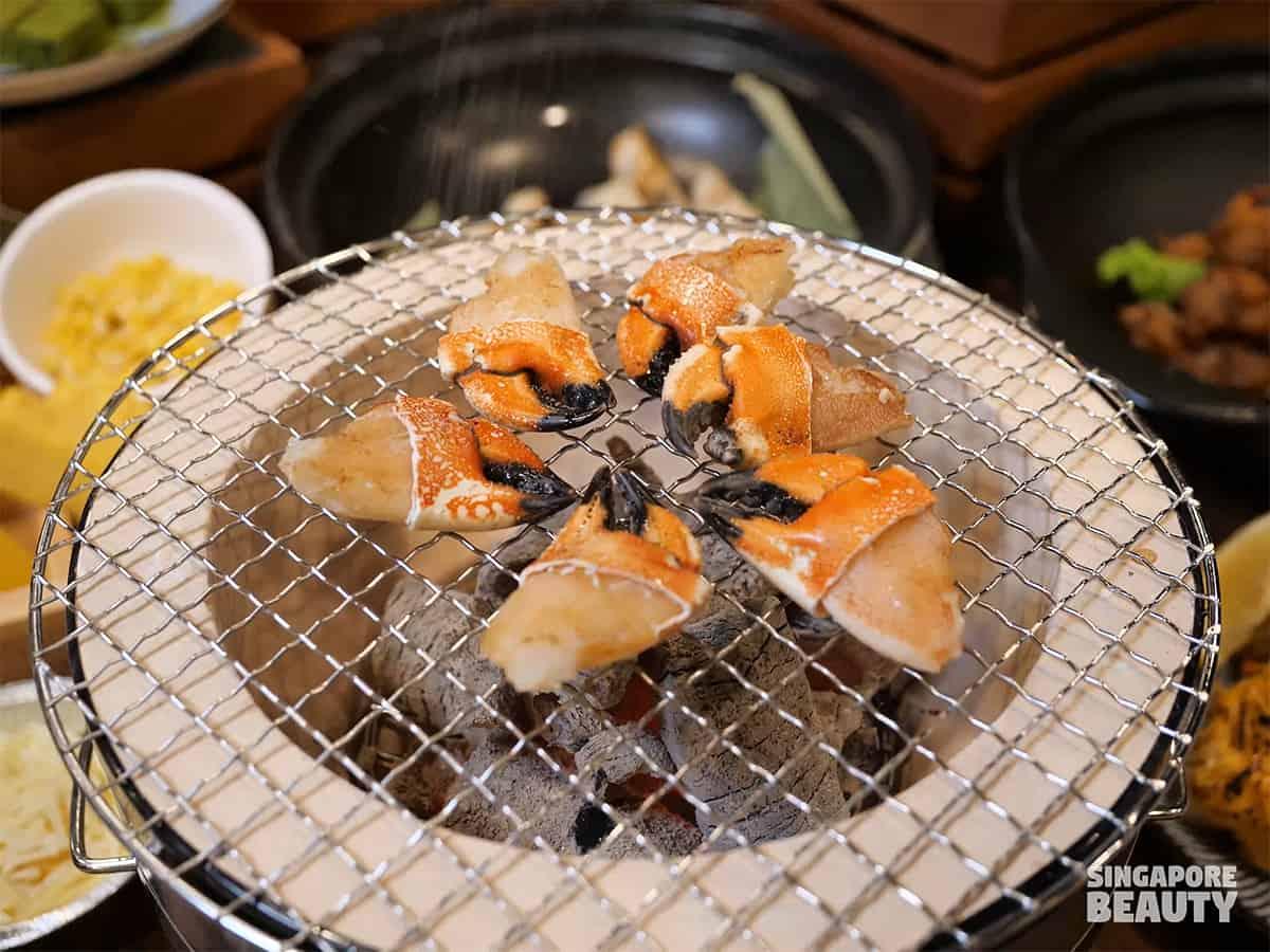 kujaku yaki stone crab claw